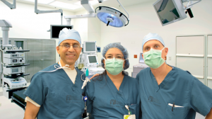 Dr Emran, Yolanda Falcon and Dr. Stephen Almond - Pediatric Surgeon